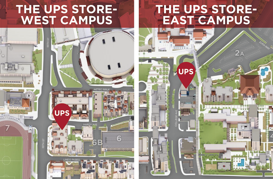 West & East Campus UPS Store locations